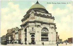 Buffalo Savings Bank in Buffalo, NY, New York State,  Divided Back