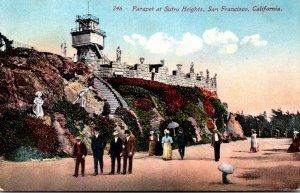 California San Francisco Parapet At Sutro Heights