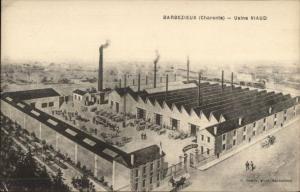 Barbezieux Charente France - Usine Viaud Factory c1910 Postcard