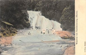 Waterval van Bantimoeroeng Maros Indonesia, Republik Indonesia Postal Used Un...