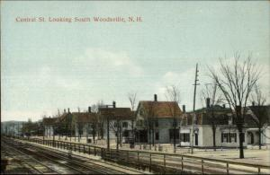 Woodsville NH Central St. South c1910 Postcard