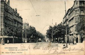 CPA Espagne SAN SEBASTIAN - Avenida de la Libertad (304025)