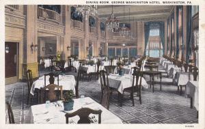 WASHINGTON, Pennsylvania, PU-1929; Dining Room, George Washington Hotel