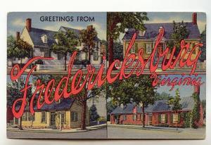 Greetings from Fredericksburg,  Virginia,
