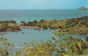 ST. LUCIA, West Indies; View from hillside scross Castries Harbour, PU-1973