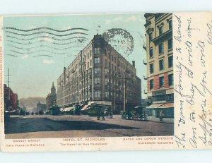 Pre-1907 SAINT NICHOLAS HOTEL BEFORE THE EARTHQUAKE San Francisco CA AE2306