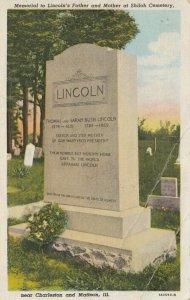 SHILOH, Illinois , 00-10s ; Memorial to Lincoln's Parents at Shiloh Cemetery