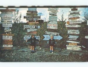 Unused Pre-1980 VINTAGE MILEAGE SIGNS Watson Lake Yukon Territory YT E7318