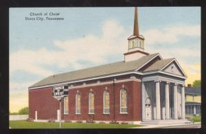 UNION CITY TENNESSEE CHURCH OF CHRIST VINTAGE POSTCARD