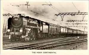 RPPC SHENFIELD, United Kingdom~ HOOK CONTINENTAL Railroad Train  c1940s Postcard