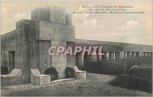 Old Postcard Monument Bayonet Trench offered by our American friends