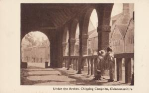 Children Under The Arches Chipping Campden Gloucester Old Postcard