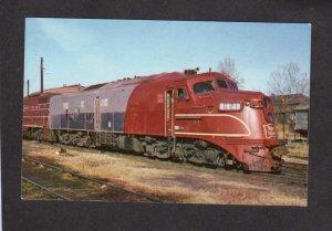 TN Rock Island Railroad Train 621 Engine Memphis Tennessee Postcard