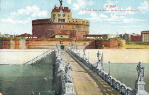 Italy Roma Il Ponte Elio ed Avanzi del Mausoleo di Adriano 01.71