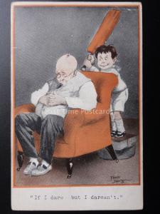 Fred Spurgin: QUAINT KIDDIES Cricket Theme IF I DARE - BUT I DARESN'T c1913