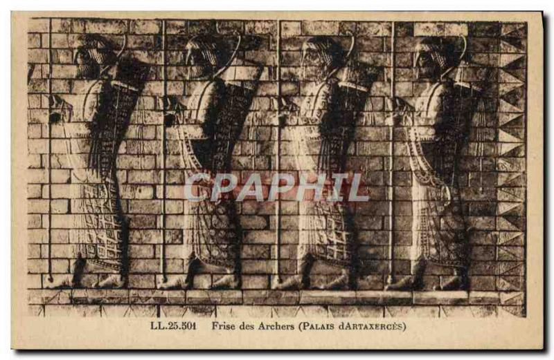 Old Postcard Shooting has the & # 39arc Frieze of Archers palace & # 39Artaxe...