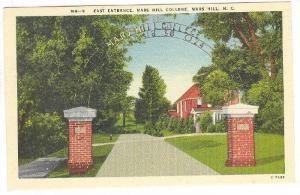 East Entrance, Mars Hill College, Mars Hill, North Carolina, 1910-1920s