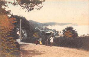 Japan Rickshaw Scenic Roadway Antique Postcard K107425