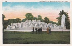 Illinois Chicago Fountain Of Time In Washington Park Curteich