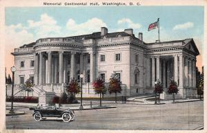 Memorial Continental Hall, Washington, D.C., Early Postcard, Unused