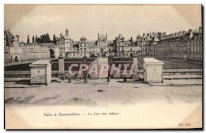Old Postcard Fontainebleau Palace Of The Court Of Farewell