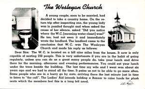 Comic - The Wesleyan Church   *RPPC