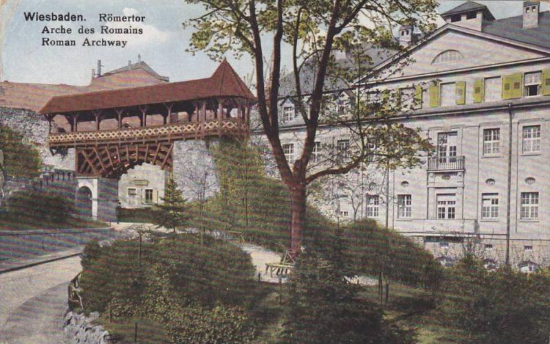 Wiesbaden, Roman Archway, Hesse, Germany, PU-1921