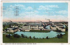 Sanford, maine, Bird's Eye View of Sanford Mills
