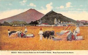 Mexico Old Vintage Antique Post Card Modern American Biners Pyramids of Cholu...