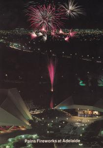Pains Fireworks Display at Adelaide Australian Limited Edition Postcard