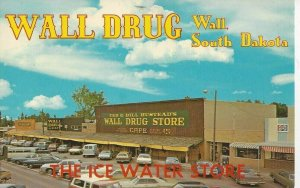 Postcard - SD - South Dakota Wall Drug Store Ice Water Posted