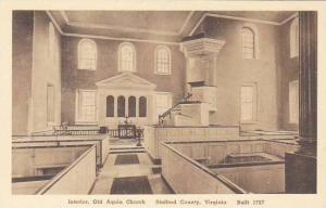 Virginia Stafford County Interior Old Aquia Church Albertype