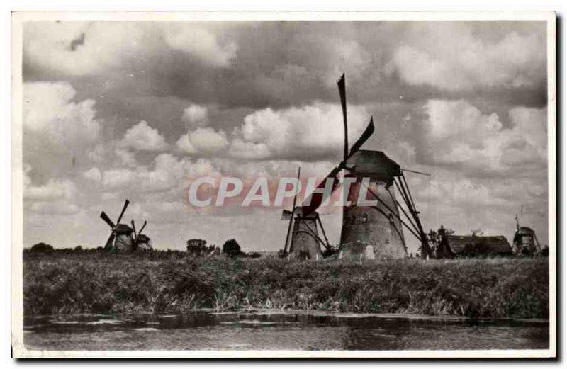 Postcard Old Mill Holland Windmill Molenlandschap