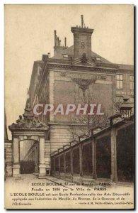 Old Postcard Ecole Boulle Rued e Reuilly Paris Decorative Arts