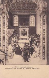 SIENA, Cattedrale (Libreria), Piccolomini creato Cardinale da Calisto III, (P...