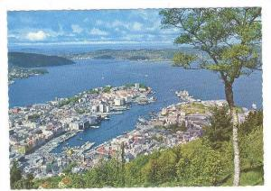 View From Mount Floyfjell, Bergen, Norway, 1950-1970s