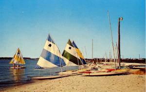 DE - Rehoboth. Sailboats on the Coastline