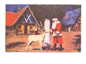 Santa and Deer, North Pole, Wilmington, New York