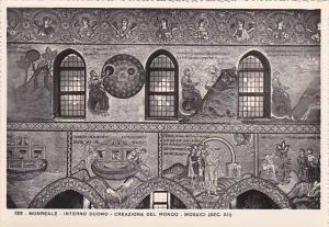 Italy Monreale Interno Duomo Creazione del Mondo Mosaici Real Photo
