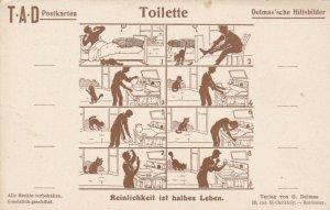 German Delmas'sche Hilfsbilder Toilette Toilets sk3523