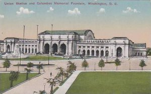 Washington Dc Union Station And Columbus Memorial Fountain