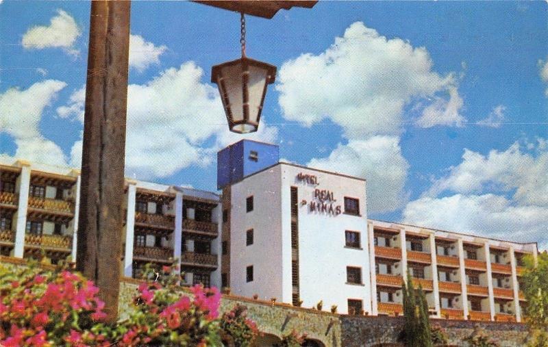 Guanajuato Mexico~Hotel Real De Minas~Lamp Post Lantern~1950s Postcard