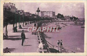 Old Postcard Arcachon Silver rating Boulevard Walk