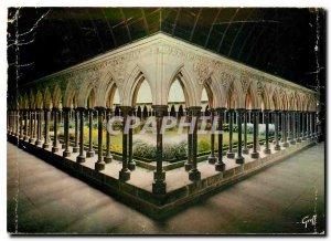 Postcard Modern Normandy Mont Saint Michel cloister