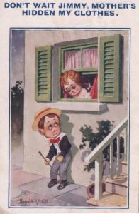 Ronald McGill Hidden Clothes Jimmy Old Comic Postcard