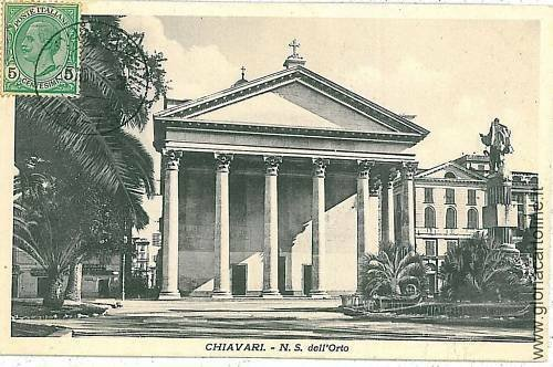 06606  CARTOLINA d'Epoca - CHIAVARI: N.S. DELL'ORTO
