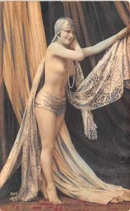 French Tinted Nude Postcard Non Postcard Backing Unused light corner wear, a ...