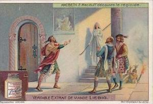 Liebig Vintage Trade Card S1048 Macbeth 1912 No 2