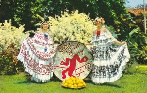 Panama Beautiful Ladies Wearing Pollera National Costume Of Panama