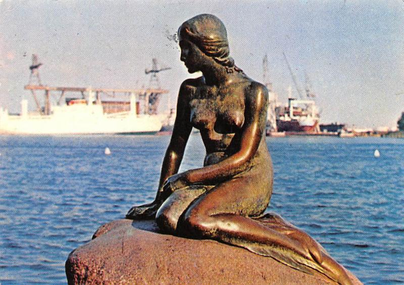 Denmark Kobenhavn Copenhagen Langelinie The little Mermaid 1964